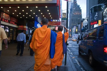 Monks in Times Square